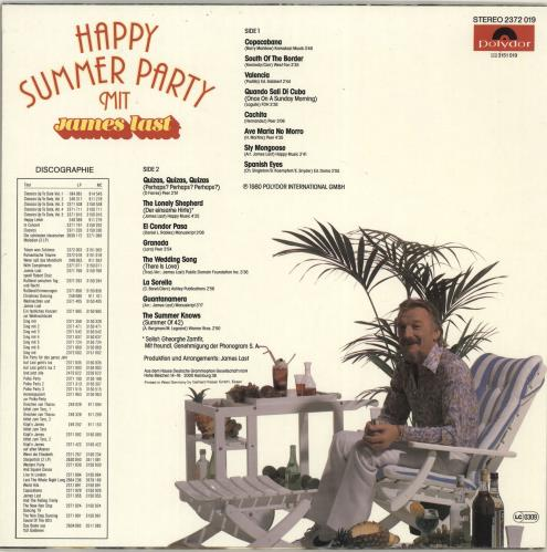 James Last Happy Summer Party German Vinyl Lp Album Lp Record