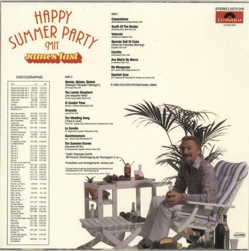 James Last Happy Summer Party vinyl LP album (LP record) German JLSLPHA702783