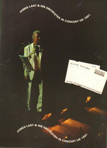 James Last In Concert UK 1991 + Ticket Stubs tour programme UK JLSTRIN647317
