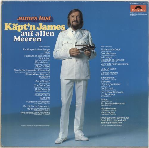 James Last Kapt´n James Auf Allen Meeren vinyl LP album (LP record) German JLSLPKA698697