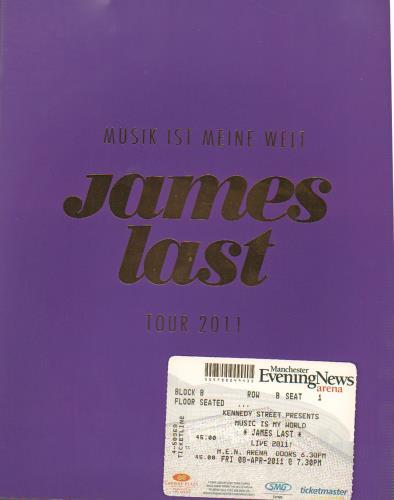 James Last Musik Ist Meine Welt - Tour 2011 + Ticket Stub tour programme UK JLSTRMU647345