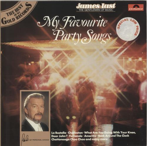 James Last My Favourite Party Songs UK vinyl LP album (LP record)