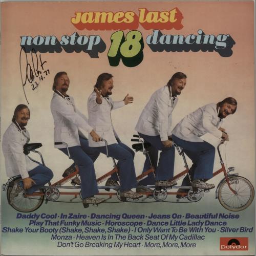 James Last Non Stop Dancing 18 - Autographed vinyl LP album (LP record) UK JLSLPNO647411