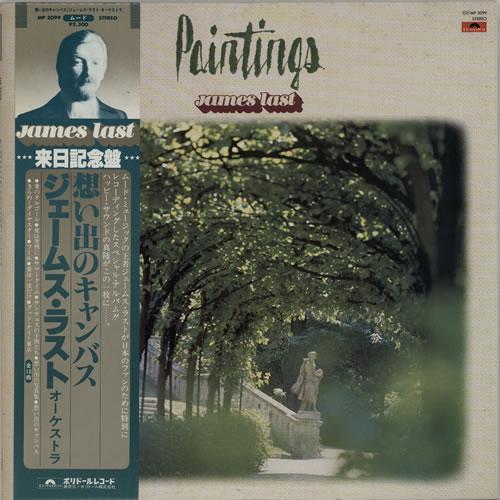 James Last Paintings + Obi + Tour Flyer vinyl LP album (LP record) Japanese JLSLPPA605067