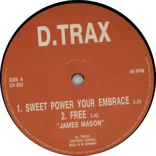"James Mason Sweet Power Your Embrace 12"" vinyl single (12 inch record / Maxi-single) German K8P12SW645548"