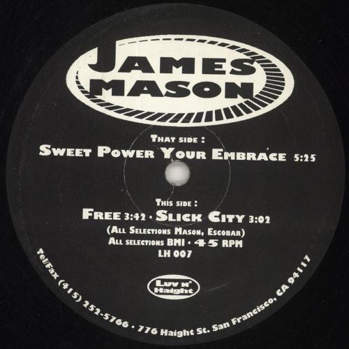 "James Mason Sweet Power Your Embrace 12"" vinyl single (12 inch record / Maxi-single) US K8P12SW746666"