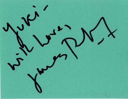 James Purefoy Page From An Autograph Book memorabilia UK KXMMMPA601661