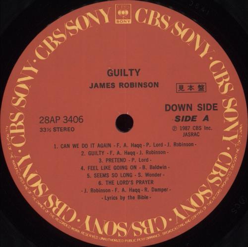 James Robinson Guilty + Obi vinyl LP album (LP record) Japanese KS0LPGU709262