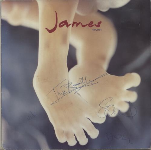 James Seven - Autographed vinyl LP album (LP record) UK JMSLPSE679602
