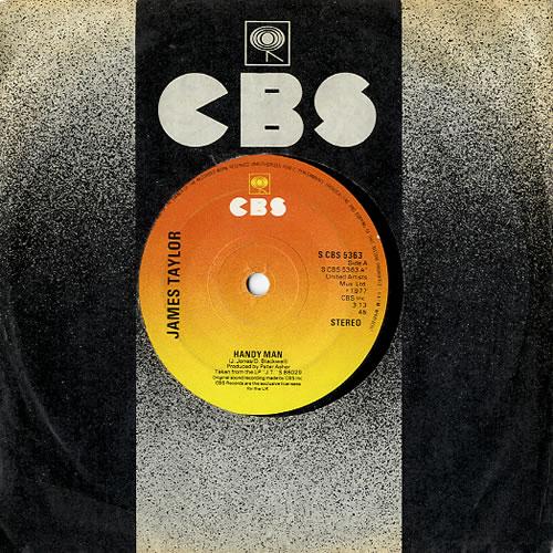 "James Taylor Handy Man 7"" vinyl single (7 inch record) UK JTY07HA630033"
