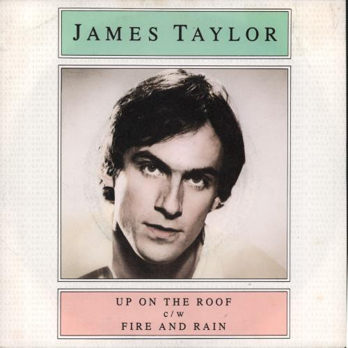 """James Taylor Up On The Roof 7"""" vinyl single (7 inch record) UK JTY07UP664283"""