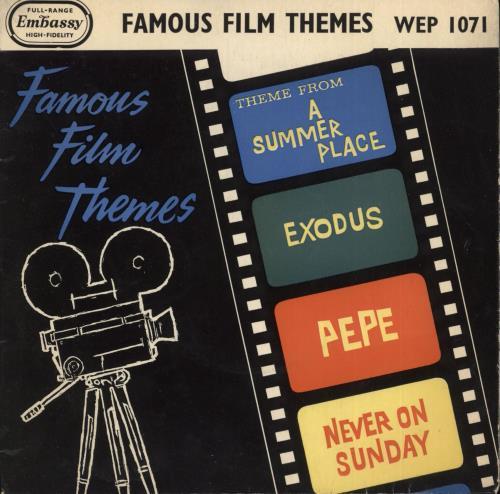 "James Wright (60s) Famous Film Themes 7"" vinyl single (7 inch record) UK K1Q07FA737935"