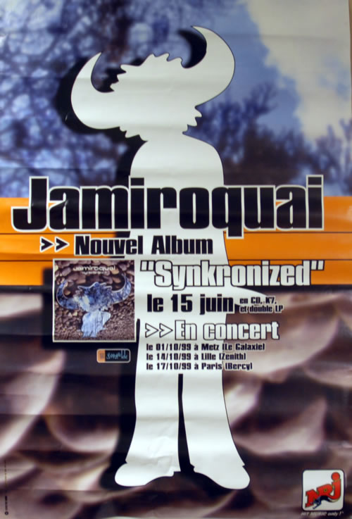 Jamiroquai Synkronized + French Tour Dates 1999 poster French JMQPOSY623487