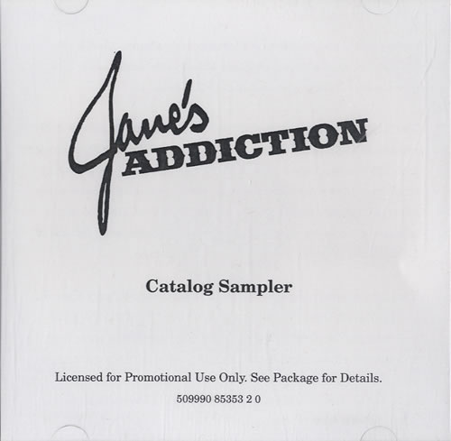 Janes Addiction Catalogue Sampler CD-R acetate US JANCRCA547768