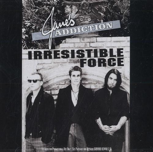 "Janes Addiction Irresistible Force CD single (CD5 / 5"") US JANC5IR552799"