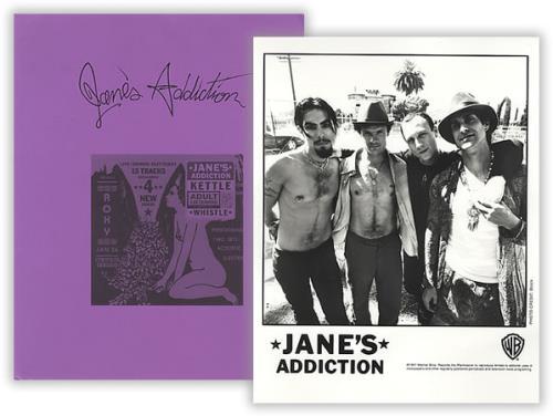 Janes Addiction Kettle Whistle media press pack US JANPPKE101198
