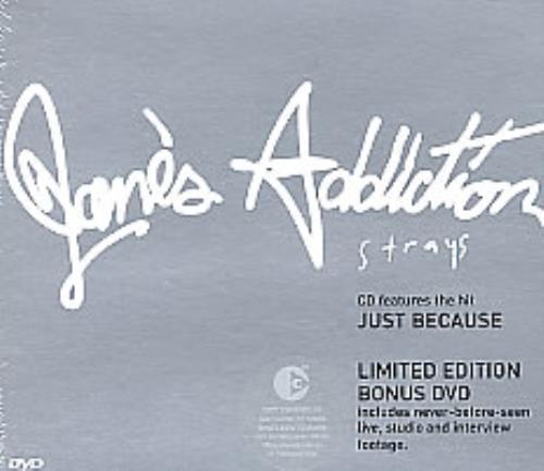 Janes Addiction Strays 2-disc CD/DVD set European JAN2DST274833