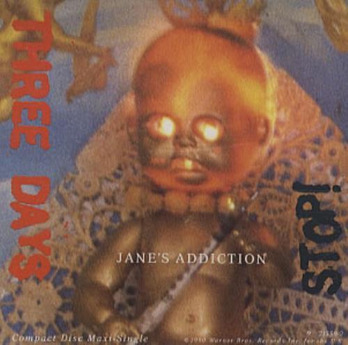 "Janes Addiction Three Days CD single (CD5 / 5"") US JANC5TH132879"