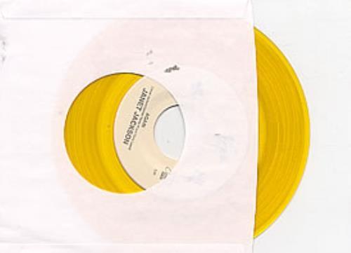 "Janet Jackson Again - Gold Vinyl 7"" vinyl single (7 inch record) US J-J07AG22837"