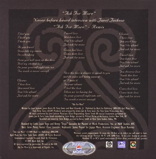 "Janet Jackson Ask For More CD single (CD5 / 5"") UK J-JC5AS143907"