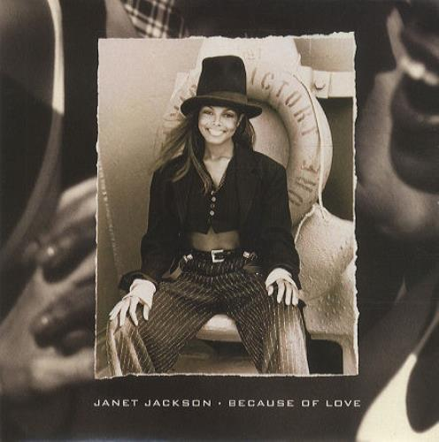 "Janet Jackson Because Of Love 7"" vinyl single (7 inch record) UK J-J07BE192882"