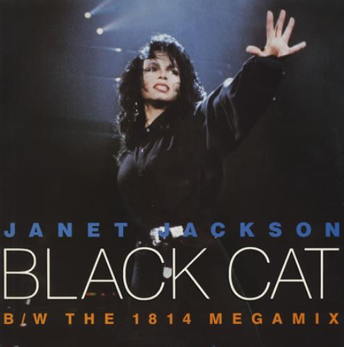 "Janet Jackson Black Cat 12"" vinyl single (12 inch record / Maxi-single) UK J-J12BL17684"