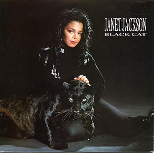 "Janet Jackson Black Cat 7"" vinyl single (7 inch record) Australian J-J07BL309971"