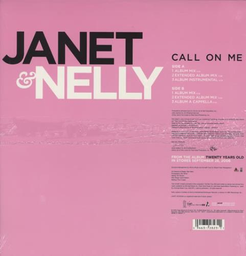"Janet Jackson Call On Me 12"" vinyl single (12 inch record / Maxi-single) US J-J12CA372020"
