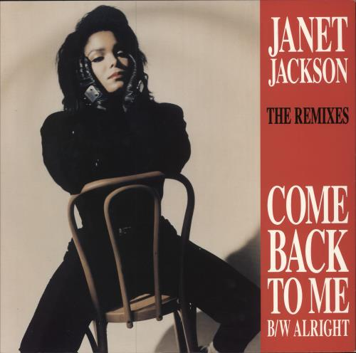 "Janet Jackson Come Back To Me - Remixes 12"" vinyl single (12 inch record / Maxi-single) UK J-J12CO12317"