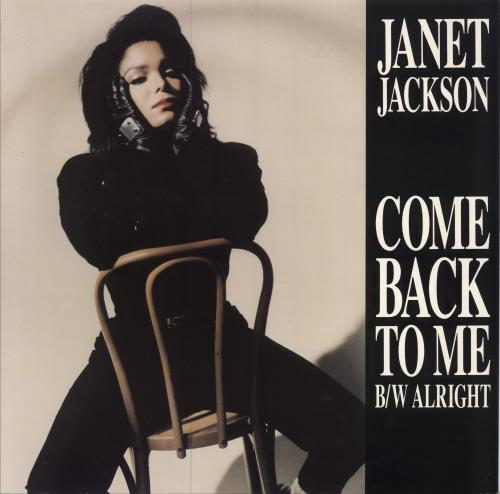 "Janet Jackson Come Back To Me 12"" vinyl single (12 inch record / Maxi-single) UK J-J12CO43001"