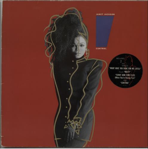 Janet Jackson Control - Stickered sleeve vinyl LP album (LP record) UK J-JLPCO231402