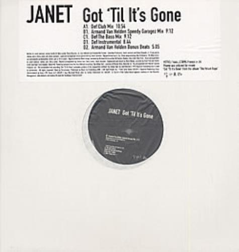 "Janet Jackson Got 'Til It's Gone 12"" vinyl single (12 inch record / Maxi-single) UK J-J12GO96560"