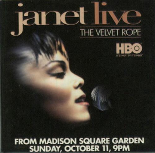 Janet Jackson Janet Live - The Velvet Rope - Badge US Promo