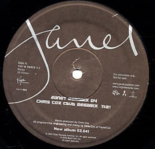 "Janet Jackson Janet Megamix 04 12"" vinyl single (12 inch record / Maxi-single) US J-J12JA275199"
