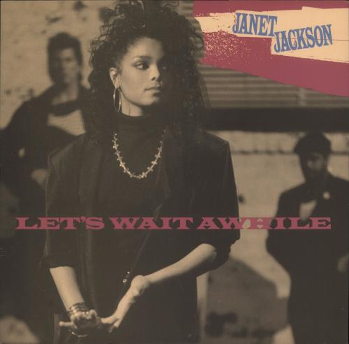 "Janet Jackson Let's Wait Awhile 12"" vinyl single (12 inch record / Maxi-single) UK J-J12LE23438"