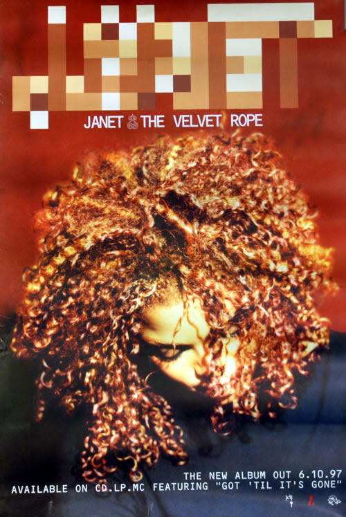 Janet Jackson The Velvet Rope Uk Promo Poster 610070