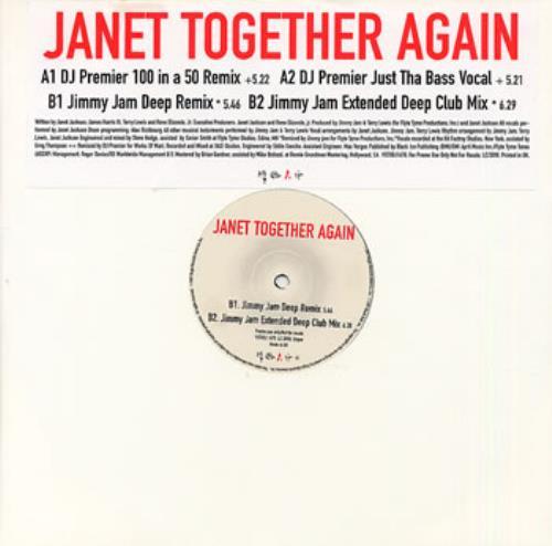 "Janet Jackson Together Again 12"" vinyl single (12 inch record / Maxi-single) UK J-J12TO100349"