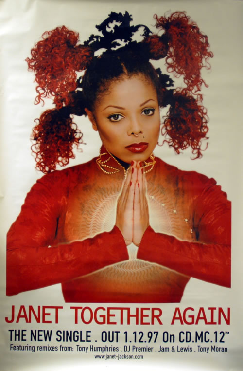 Janet Jackson Together Again poster UK J-JPOTO100550