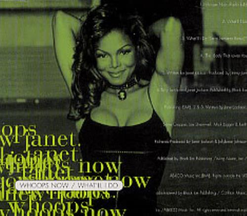 """Janet Jackson Whoops Now CD single (CD5 / 5"""") UK J-JC5WH42478"""