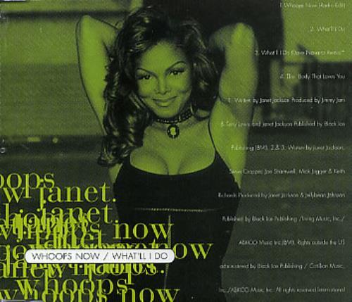 "Janet Jackson Whoops Now CD single (CD5 / 5"") Australian J-JC5WH43567"