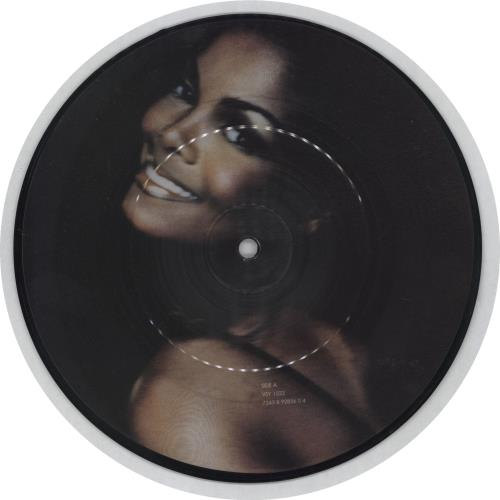 "Janet Jackson Whoops Now 7"" vinyl picture disc 7 inch picture disc single UK J-J7PWH753788"