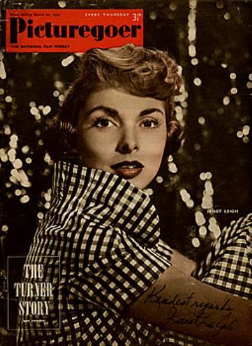 Janet Leigh Picturegoer Magazine - Autographed magazine UK JL2MAPI285351