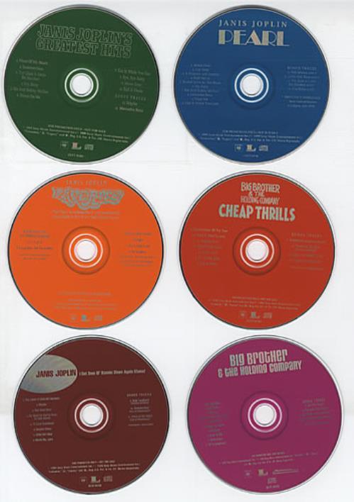 Janis Joplin Box Set - Set Of 6 Advance Cd's US Promo CD