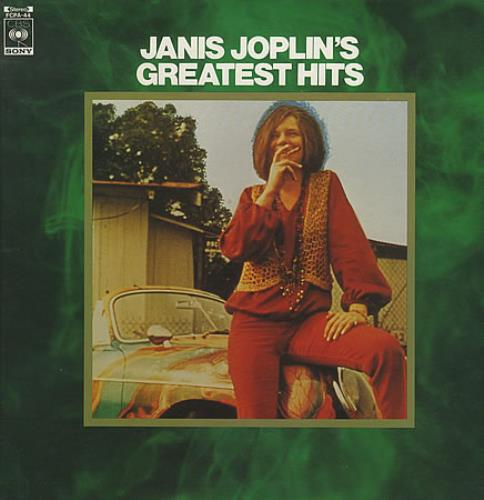 Janis Joplin Greatest Hits vinyl LP album (LP record) Japanese JNJLPGR227499