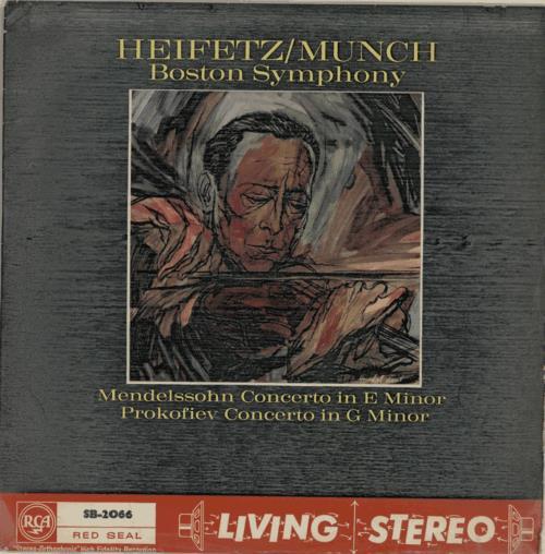 Jascha Heifetz Mendelssohn Concerto/ Prokofiev Concerto - 1st vinyl LP album (LP record) UK J55LPME589177
