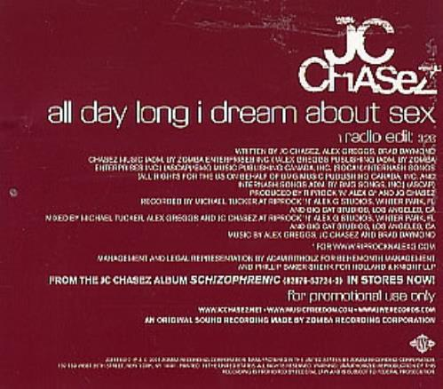 "JC Chasez All Day Long I Dream About Sex CD single (CD5 / 5"") US JCZC5AL300262"