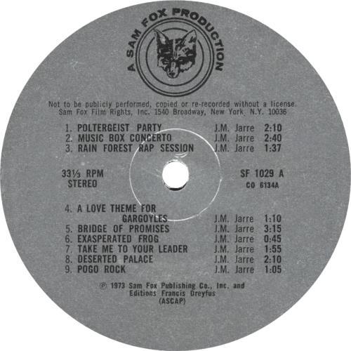 Jean-Michel Jarre Deserted Palace vinyl LP album (LP record) US JMJLPDE07546