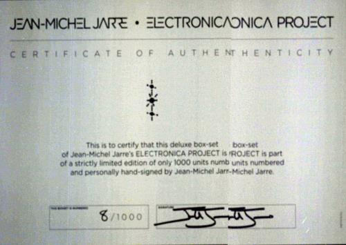 Jean-Michel Jarre Electronica DeLuxe Box [Parts 1 & 2] - Number 8/1000 box set UK JMJBXEL707315