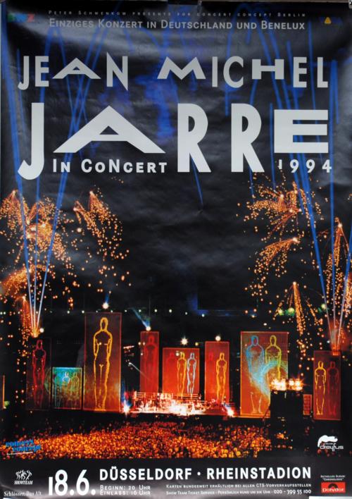 Jean-Michel Jarre In Concert 1994 Dusseldorf poster German JMJPOIN27982
