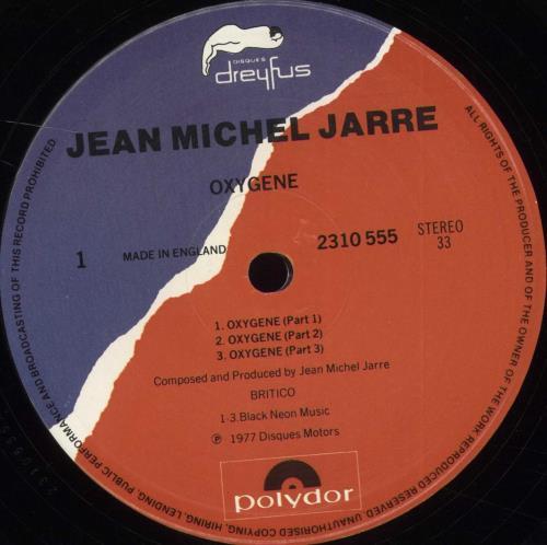 Jean-Michel Jarre Oxygene - 3rd vinyl LP album (LP record) UK JMJLPOX706577